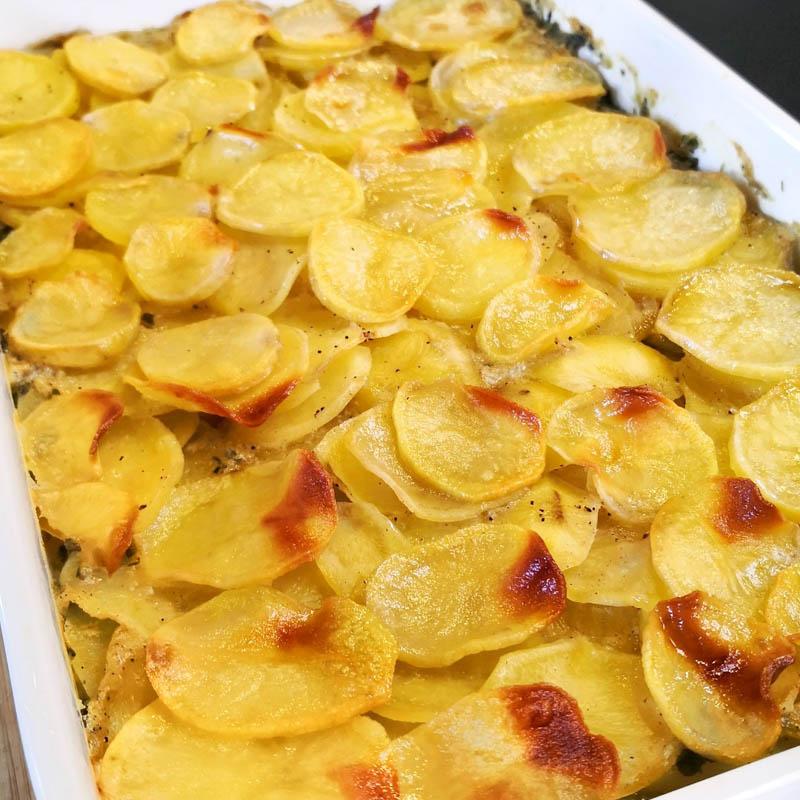 Spinat-Kartoffel-Auflauf - Kurkuma@home